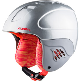 Alpina Carat Skihjelm Børn, silver-flame